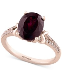 Effy Bordeaux By Rhodolite Garnet 3 7 8 Ct. T.W. And Diamond 1 6 Ct. T.W. In 14K Rose Gold Red