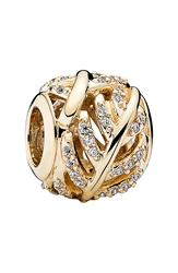 Pandora Design 'Light As A Feather' Charm Gold Clear