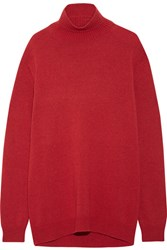 Marni Cape Back Wool And Cashmere Blend Turtleneck Sweater Red
