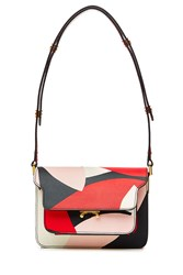 Marni Printed Leather Shoulder Bag Multicolor