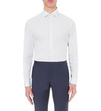 J. Lindeberg J Daniele Slim Fit Stretch Cotton Shirt White