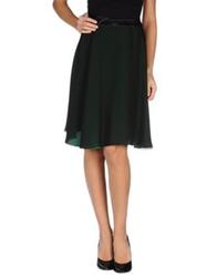 Bouchra Jarrar Knee Length Skirts Dark Green