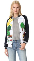 Mira Mikati Happy Forest Bomber Jacket Navy White