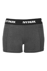 Low Rise Biker Shorts By Ivy Park Grey