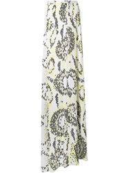 Issa Printed Maxi Skirt White