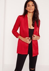 Missguided Slouchy Blazer Red Red