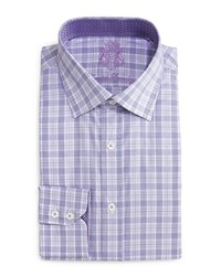 English Laundry Plaid Print Woven Dress Shirt Purple