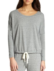 Eberjey Heather Slouchy Tee Dark Grey