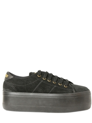 No Name 60Mm King Suede Sneakers Black