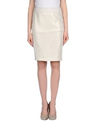 Mariella Rosati Knee Length Skirts Beige