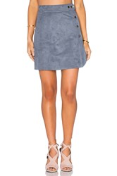 1.State Side Button A Line Skirt Grey