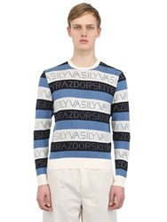 Vasily Razdorskiy Cotton Logo Jacquard Sweater