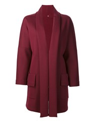 Peter Cohen Open Front Coat Red