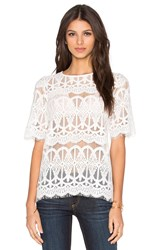 Bcbgeneration Lace Top White