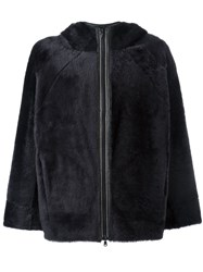 Brunello Cucinelli Hooded Boxy Jacket Black