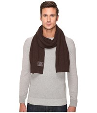Ugg Ribbed Scarf Stout Heather Scarves Brown