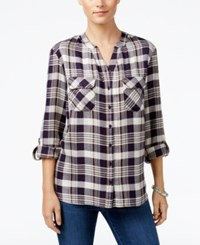 Styleandco. Style Co. Petite Plaid Shirt Only At Macy's Hally Plaid