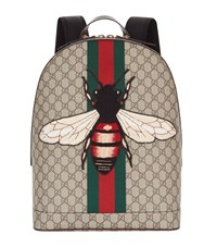 Gucci Web Animalier Bee Backpack Unisex Beige
