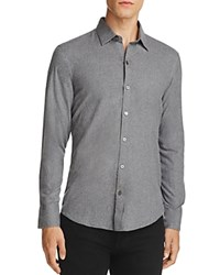 Zachary Prell Flannel Slim Fit Button Down Shirt Gray