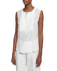 Peserico Pleated Front Silk Shell Women's