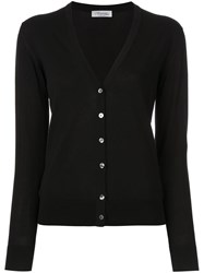 Strasburgo Button Down Cardigan Black