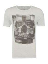 Label Lab Amps Graphic Fit T Shirt Light Grey