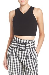 Women's Kendall Kylie Stretch Knit Crop Top Black