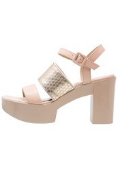 Jeannot High Heeled Sandals Avorio Platino Nude
