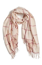 Nordstrom Women's Plaid Cashmere And Wool Scarf Pink Combo