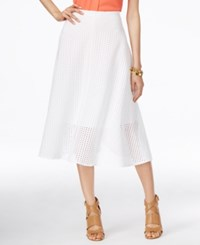 Alfani Eyelet A Line Skirt Only At Macy's Bright White