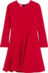 Marni Silk And Wool Blend Dress Red