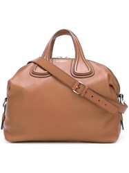 Givenchy Maxi 'Nightingale' Tote Brown