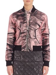 Moschino Satin Bomber Jacket Light Pink