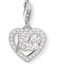 Thomas Sabo Charm Club Silver And Zirconia Best Mum Charm Pendant