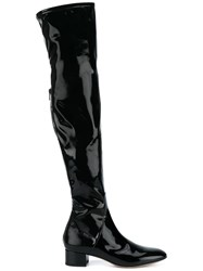 Valentino Thigh High Boots Black