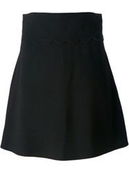 Red Valentino High Waisted Skirt Black