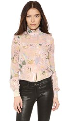 Jill Stuart Azalea Long Sleeve Blouse Powder
