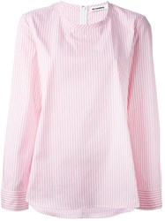 Jil Sander Striped Shirt Pink And Purple