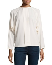 J Brand Ready To Wear Long Dolman Sleeve Blouse Marble