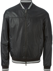 Armani Jeans Perforated Bomber Jacket