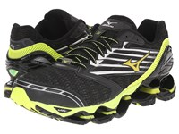 Mizuno Wave Prophecy 5 Black Safety Yellow Silver Men's Running Shoes