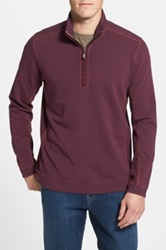 Tommy Bahama Denim New Ben And Terry Island Modern Fit Half Zip Pullover Purple