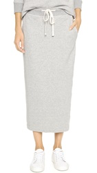 James Perse Fleece Pencil Skirt Heather Grey