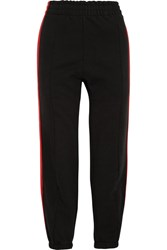 Vetements Striped Cotton Blend Jersey Sweatpants Red