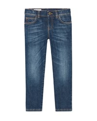 Gucci Faded Stretch Slim Fit Denim Jeans Blue Size 6 12 Size 10