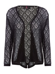 Simon Jeffrey Crochet Detailed Shrug Black