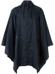 Blood Brother Flared Hood Raincoat Black