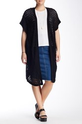 14Th And Union Open Stitch Duster Cardigan Plus Size Black