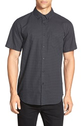 Obey 'Cilo' Slim Fit Short Sleeve Print Woven Shirt Black Multi