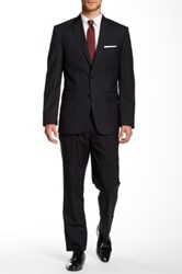 Vince Camuto Two Button Notch Lapel Wool Suit Black